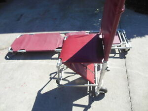 Lot Of 2 Ferno Emergency Evacuation Wheeled Stair Stretcher Chair