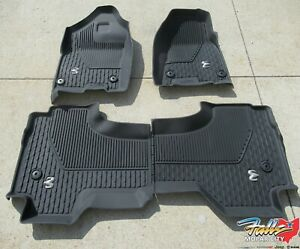 2019 2020 Dodge Ram 1500 Dt Quad Cab Front And Rear Slush Mats New Mopar Oem
