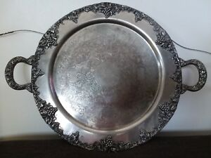 Beautiful Continental Silver Plated 14 Serving Platter