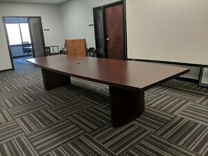 12 Conference Room Table Cherry Wood