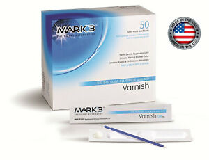 Mark3 Varnish 5 Sodium Fluoride Unit dose box Of 50 Caramel 7102