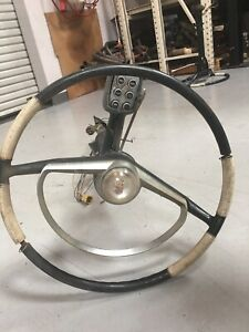 1956 Packard Caribbean Steering Column With Steering Wheel And Push Botton Shift