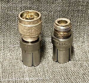 2 General Radio Gr874 To N Adapters Male And Female