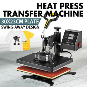 12 X 10 Heat Press Machine Sublimation Print Transfer Swing Away T shirt