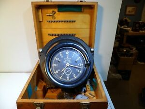 Seth Thomas Ww2 U S Navy Variable Course Clock Mark 2 Mod 1 In Box With Cams