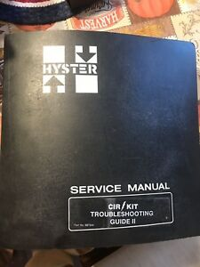 Hyster Forklift Cir Kit Troubleshooting Electrical Service Shop Repair Manual 2