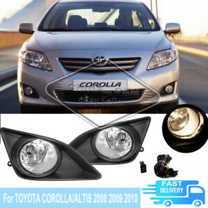 For 2008 2009 2010 Toyota Corolla Altis Bumper Fog Lights Lamps W Switch