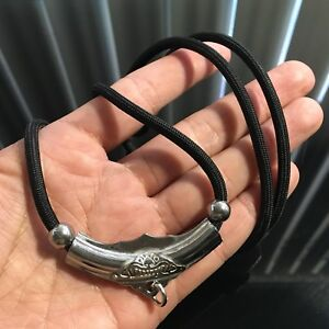Black Necklace Rope Thai Buddha Amulet Pendant Luck Rich Protect 1 Hook 24
