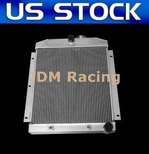 Cc5100 Aluminum Radiator For 1947 48 49 1954 Chevy 3100 3600 3800 Truck Pickup