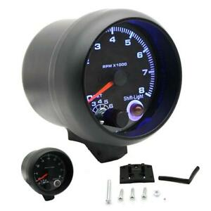 3 75 Car Tachometer Gauge Blue Led Light Inter Shift Light 0 8000 Rpm