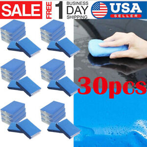 30pcs Magic Car Truck Clean Clay Bar Auto Detailing Cleaner Washer Tool Blue Wx