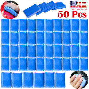 50pcs Magic Clay Bar Car Auto Vehicle Cleaning Detailing Remove Marks Washer Wx