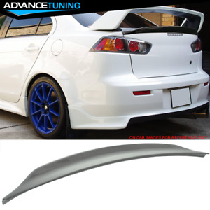 Fits 08 17 Lancer Evo X10 Mr Duckbill Trunk Spoiler Painted Dark Gray Pearl