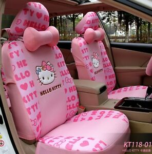 15 Piece Pink Hello Kitty Full Print Car Seat Covers