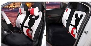 18 Piece Grey Mickey Mouse Valentine Car Seat Covers