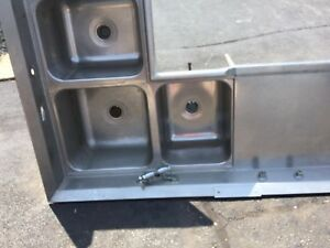 Commercial 3 Compartment Corner Sink Stainless Steel