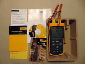 Fluke Thermocouple Thermometer 52 Ii With Two Thermocouples No Returs Acceptance