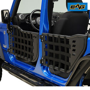 Eag Matrix Replacement Tube Door With Mirror Fit For 07 18 Jeep Wrangler Jk 4dr