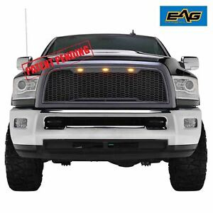 Eag Replacement Front Hood Led Grille Upper Grill For 10 12 Dodge Ram 2500
