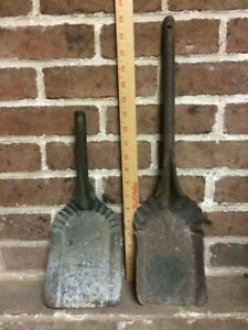 Vintage Metal Coal Ash Shovel And Coal Scoop Lot Of 2