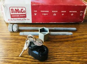 1950s 1960s Ford Lincoln Mercury Edsel T bird Spare Tire Wheel Lock Kit Vtg Nos