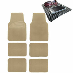 Suv Floor Mat For Auto 6pc Carpet Universal Fit Heavy Duty 3 Colors W Dash Mat
