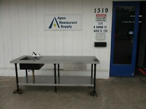 Stainless Steel 84 X 30 Work Table W sink Drawer Shelf 3978