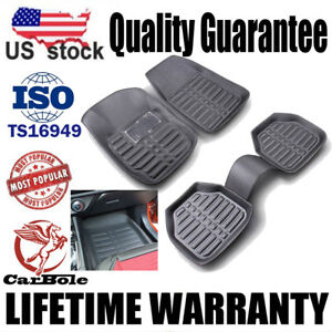 Set Of 5 Universal Car Auto Floor Mats Floorliner Front Rear Carpet Weather Mat
