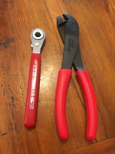 Snap On Pliers And Blue Point Ratcheting Wrench Battery Terminal Set