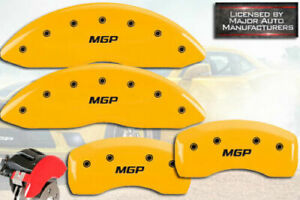 2011 2014 Chrysler 200 Front Rear Yellow mgp Brake Disc Caliper Covers 4pc