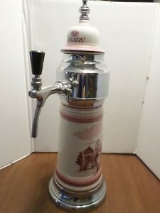 Rare Beauty Porcelain Stainless Steel Amstel Flow Control Beer Keg Tap Tower
