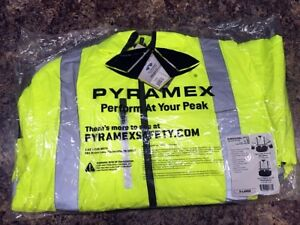 Type R Class 3 4 in 1 Hi vis Safety Jacket Reversible Quilted Lining sz Xl