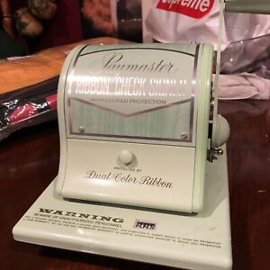 Vintage Paymaster Ribbon 825a Check Writer Rare Mint Green