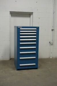 Used Vidmar 10 Drawer Modular Cabinet Industrial Tool Bin Storage 1647