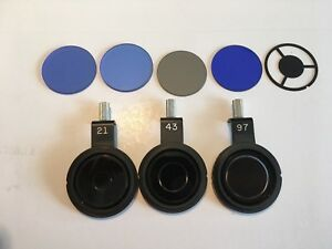 Lot Of 8 Microscope Phase Contrast Lollipop Color Filters Various Optics
