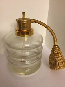 Vintage Devilbiss Perfume Bottle With Atomizer Gold Plated