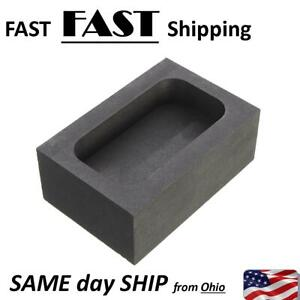 5OZ Purity Graphite Casting Refining Scrap Melting Ingot Mold for Gold Silver