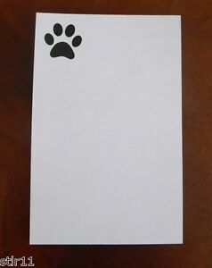 Note Pads Dog Paw Imprinted 4 X 6 Lot Of 3 Free Shipping