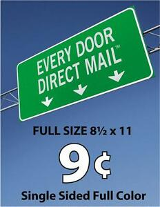600 Full Size Every Door Direct Mail Single sided Full Color