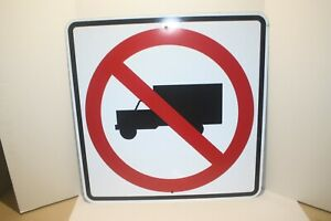 No Truck Parking 24 x24 Reflective Metal Sign Ships Free