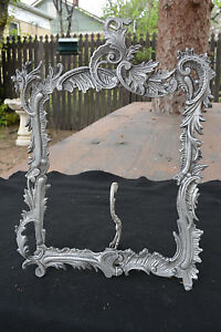 Antique Victorian Rococo Revival Picture Frame Rare Aluminum C 1880 Genuine