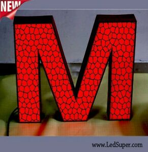 New Led Channel Letter Sign 22 Beautiful Face Textured Design Custom Made