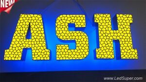 New Led Channel Letter Sign 14 Beautiful Face Textured Design Custom Made