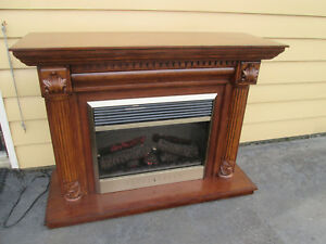 59065 Working Electric Fireplace Mantel Quality