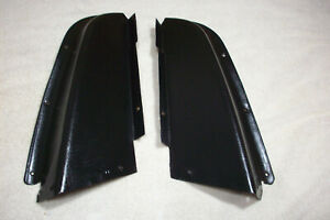 Nice Pr 1967 1968 67 68 69 Camaro Firebird Rear Folding Seat Filler Panels Black
