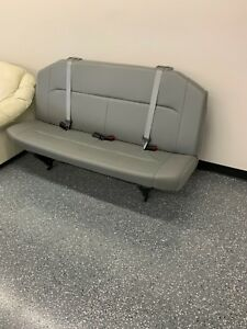 08 15 Ford Econoline Superduty Van 3rd 4th Row Gray Vinyl Bench Seat