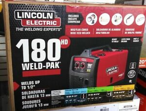 new Lincoln Electric Welder Weld pak K2515 1 Mig 180 Hd Wire Feed