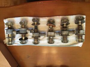 Vintage Clear Glass Door Knob Sets