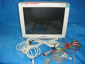 Philips Intellivue Mp70 Patient Monitor M8007a W M3001a Module Plus Cables