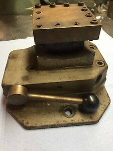 South Bend 17 Lathe Square Turret For Compound Rest Cross Slide Cl3375gj